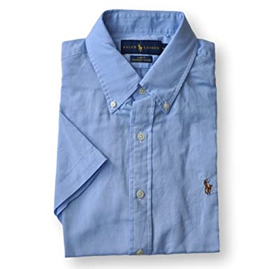db6b181517a Image Unavailable. Image not available for. Color  Ralph Lauren Men Slim  Fit Chambray Oxford Button-Down Shirt (XXL