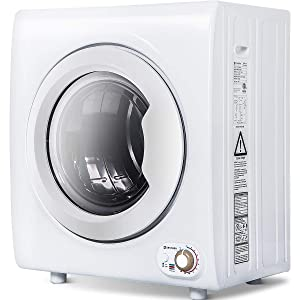 Sentern 2.65 Cu.Ft Compact Laundry Dryer - 8.8 LBS Capacity Portable Clothes Dryer with 1400W Drying Power (White)