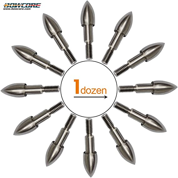 Details about  /12pcs Steel Field Points 5//16/'/' 100Grain Archery Arrow Tips Target Bullet Points
