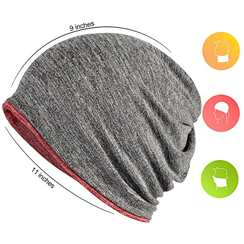 18605d32a825e FORTREE 2 Pack Multifunction Slouchy Beanie for Jogging