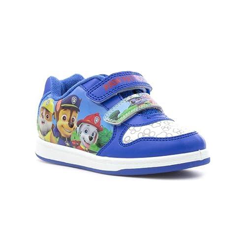 patrulla canina niño azul cierre adhesivo ENTRENADOR - Azul, 10 UK Child: Amazon.es: Zapatos y complementos