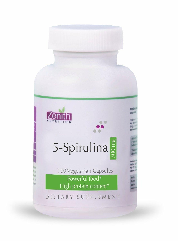 Zenith Nutrition 5-Spirulina 500 mg - 100 Capsules