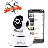 Time2 WIFI Security Camera, Wireless Indoor Home Surveillance Camera. Night Vision, Instant Alerts, Sound & Motion Detection, Record & Playback, 2 Way Audio, Pan/Tilt/Zoom, Baby/Elderly/Pet Monitor (Single Pack)