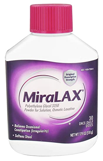 Amazon.com: MiraLAX 30-Day Laxative Powder - 17.9 oz (Pack of 2 ...