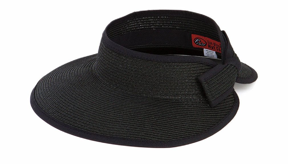San Diego Hat Company Women's Ultrabraid Visor O/S Black