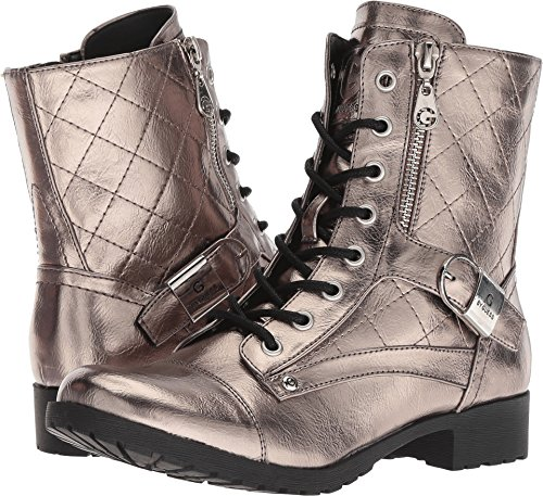 Fashion Boots Womens by G Guess Calf Brittian Pewter Peep Toe Mid xPqUBw