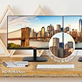 VIOTEK H250 25 Inch Ultra Thin Computer Monitor with Frameless LED Display 1920 x 1080p, 60Hz, and 2ms with HDMI and VGA, VESA