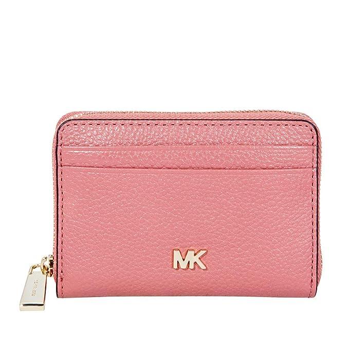 MICHAEL Michael Kors Mujeres pequeña cartera de cuero de guijarros Rosa única Talla: Amazon.es: Ropa y accesorios