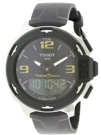 da94c702884 Amazon.com  Tissot T-Race Touch Analog Digital Dial Black Synthetic ...