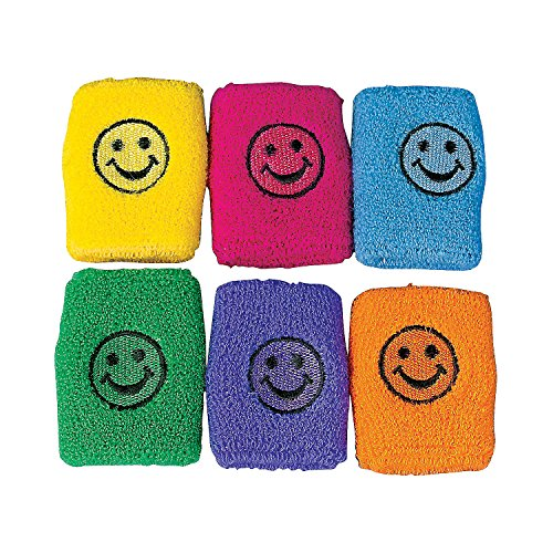SMILE FACE WRIST BANDS DOZEN