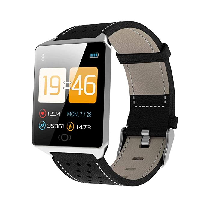 Amazon.com: CK19 Smart Watch IP67 Waterproof Tempered Glass PPG Color Screen Smartwatch Men Fashion Fitness Tracker Heart Rate Smart Band (Silver): Kitchen ...