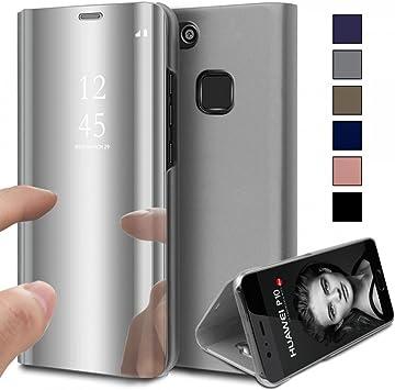 COOVY® Funda para Huawei P10 Lite/Nova Lite Aspecto metálico ...