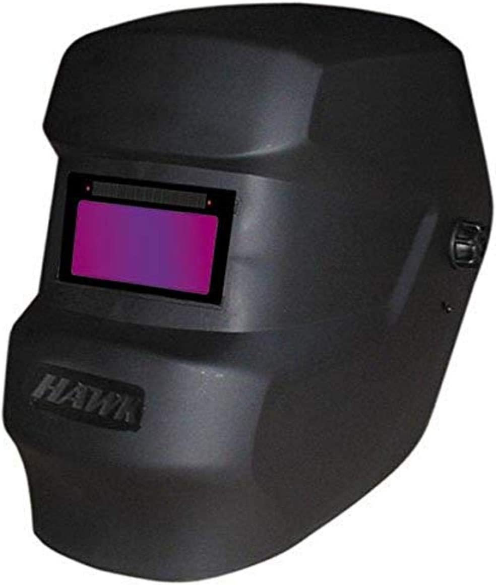 ArcOne SS240-0300 Super Singles Hawk Black Welding Helmet with 2 x 4.25 Fixed Front SS240-0300AON