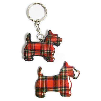 Amazon.com: Escocia tartán Scottie juego de imán para nevera ...