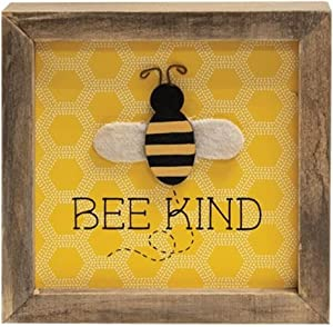 Be Kind Honey bee Sign | 6 x 6Inch | Honey bee Signs and Decor