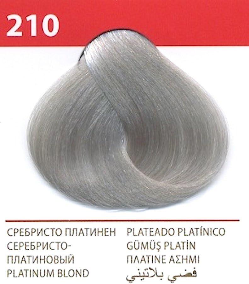 Vips prestige crema colorante para el cabello, color rubio platino 210