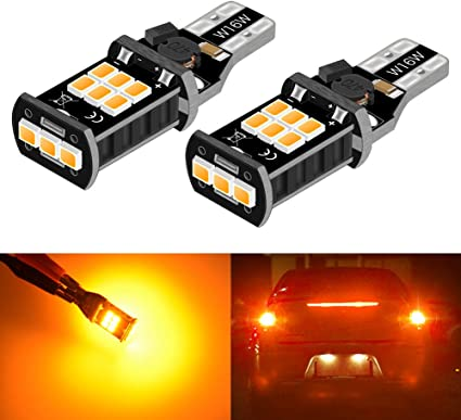 Car Auto T15 921 W16W Wedge White 24-SMD 2835 LED Backup Reverse Lights Lamps