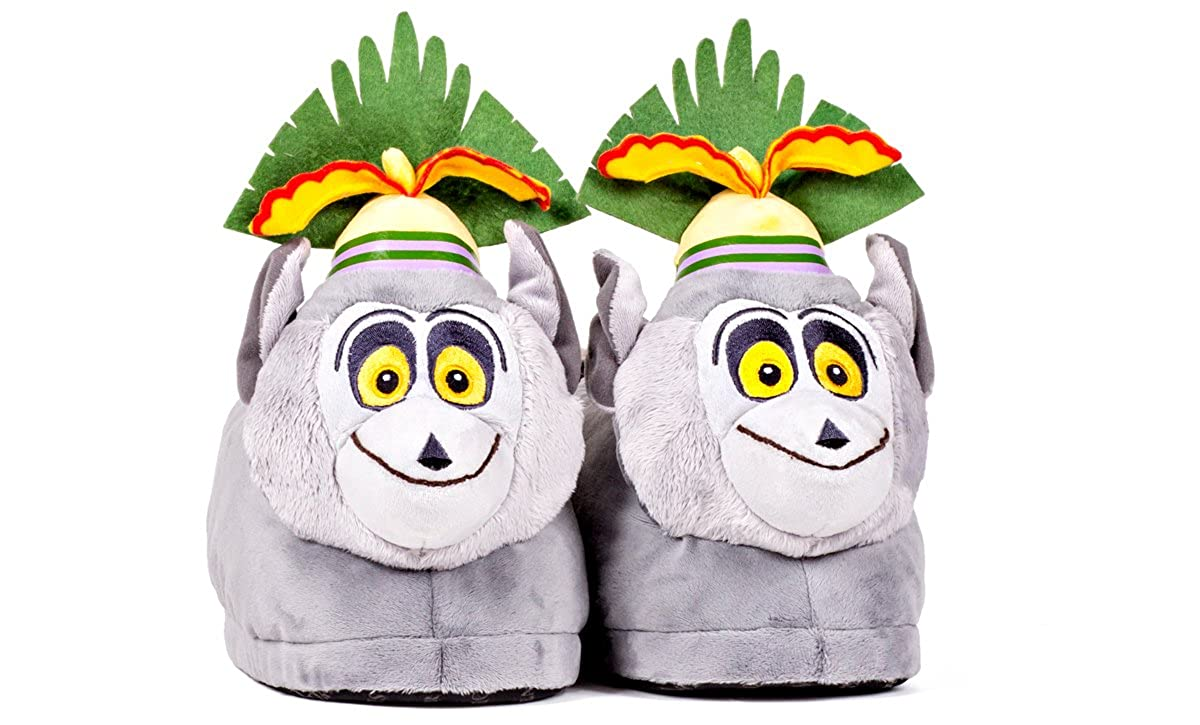 635319e4e Happy Feet 2107-3 - DreamWorks Madagascar - King Julien Slippers - Large  Mens and Womens Slippers  Amazon.co.uk  Shoes   Bags