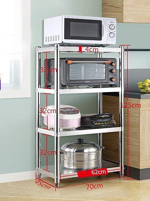 LNDDP Estante de Almacenamiento Electrodomésticos de Cocina para Horno de tostadora Soporte para microondas Acero Inoxidable Minivelador de Esquina de 4 Niveles (Tamaño: Longitud 92CM): Amazon.es: Deportes y aire libre