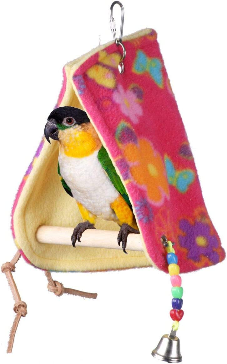 """Small to Medium Size 8/"""" x 7/"""" x 8/"""" Super Bird Creations SB881 Sheltering Seagrass Tent with Chewable Bumpy Links"""