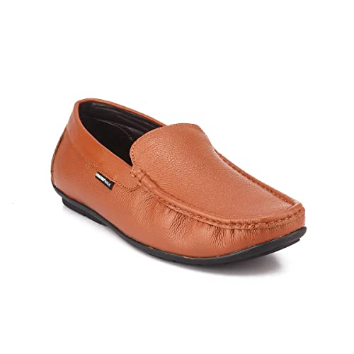 Buy Red Chief Tan Leather Loafer Shoes