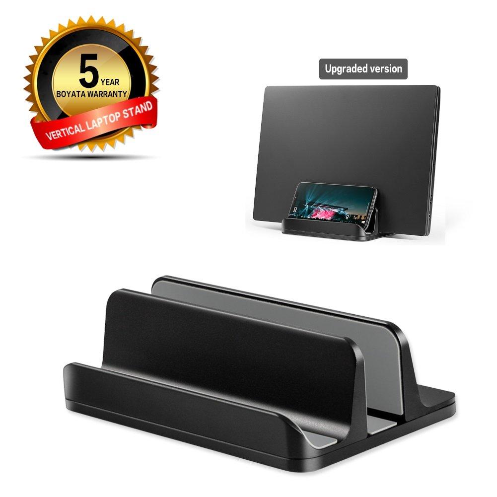 OkeMeeo [#1]調整可能な縦型ラップトップスタンド - iPadスタンド[すべてのラップトップ]用、ブラック   B07DBY4N6M