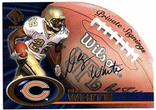 Private Die - DEZ WHITE 2000 Pacific Private Stock Signings Die Cut On Card Rookie Auto