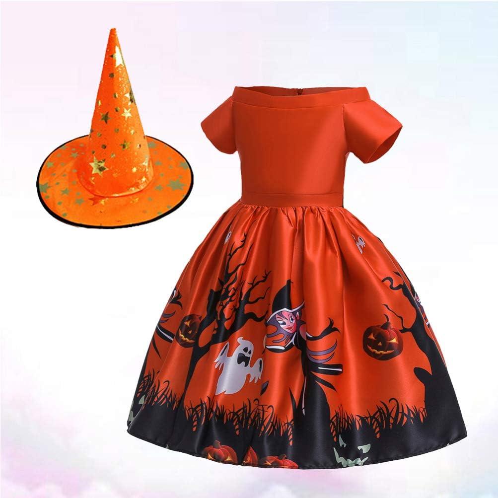 Happyyami Disfraz de Bruja de Cuento de Hadas para niñas Vestido ...