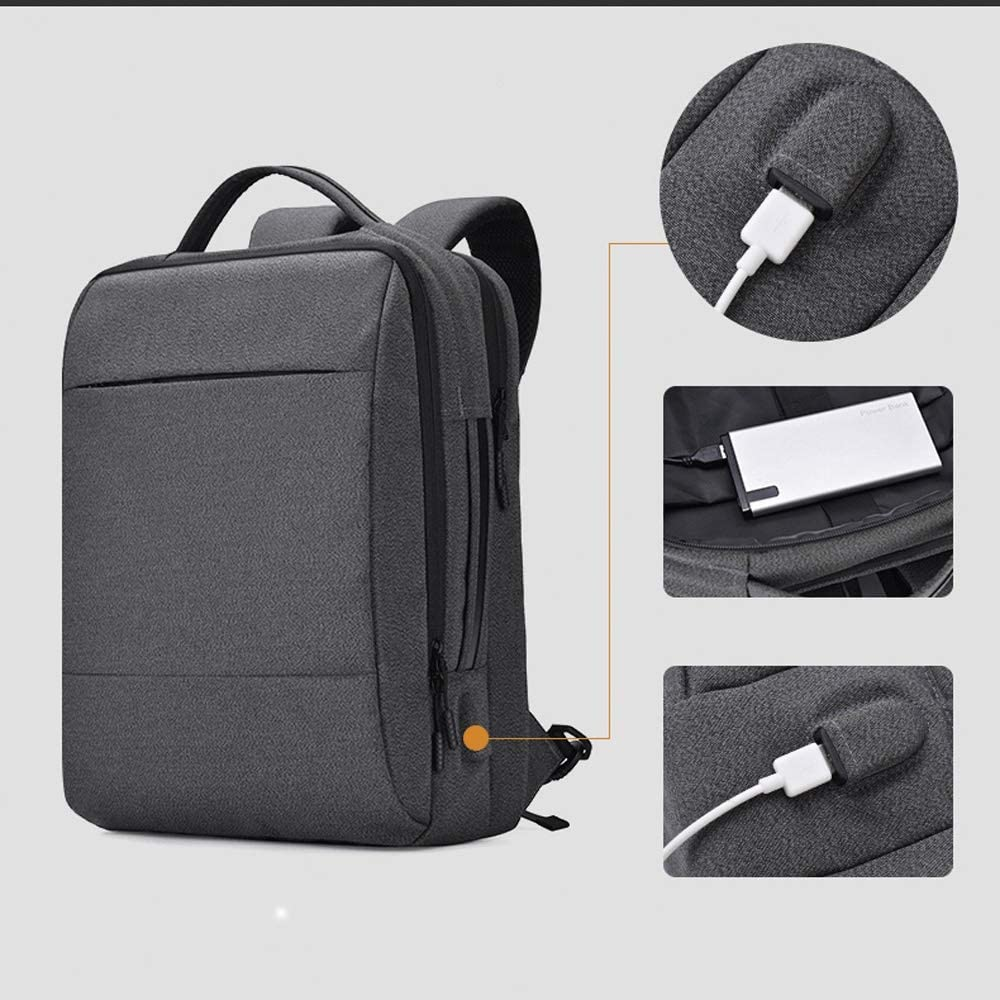 Simple and Practical Product HENGTONGTONGXUN Laptop Backpack Business Computer Bag with USB Charging Port with Headphone Port for and Laptops