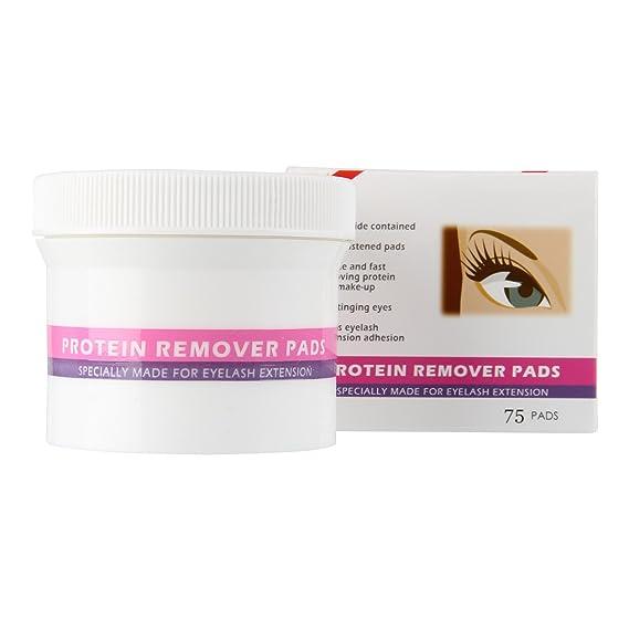 Beauty7 MAX2 Maquillaje y Proteína Remover Pads 75pcs para Pestañas Individuales Extensión Pestañas Postizas Desmaquillantes Ojos Faciales Belleza Mujeres: ...