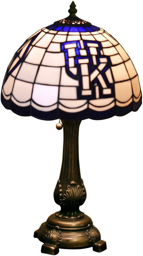 Memory Company Kentucky Wildcats Stained Glass Table Lamp