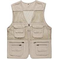 Only Faith Men's Mesh Quick-Dry Fishing Sleeveless Waistcoat Outdoor Photography Vest
