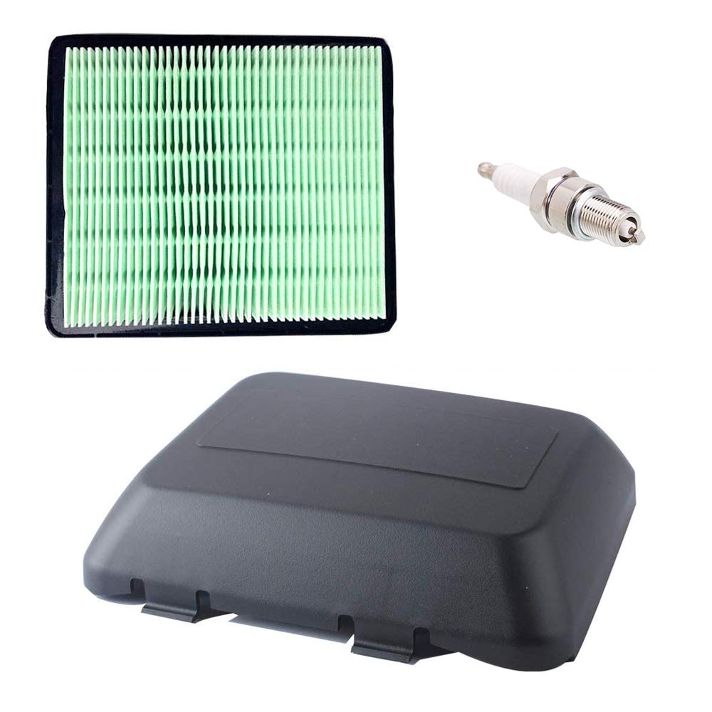 Ketofa 17231-Z0L-050 Air Cleaner Cover and 17211-ZL8-023 Air Filter for Honda GCV160 GCV190 GC160 GC190 Engine HRB216 HRB217 HRR216 HRS216 HRT216 Motor Pressure Washer Push Lawn Mower with Spark Plug