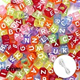 plastic beads for jewelry making - Joyereryday 500pcs Letter Beads Assorted Translucent Color Acrylic Plastic Beads Alphabet Beads for Jewellery Making, Bracelets, Necklace and Kid DIY