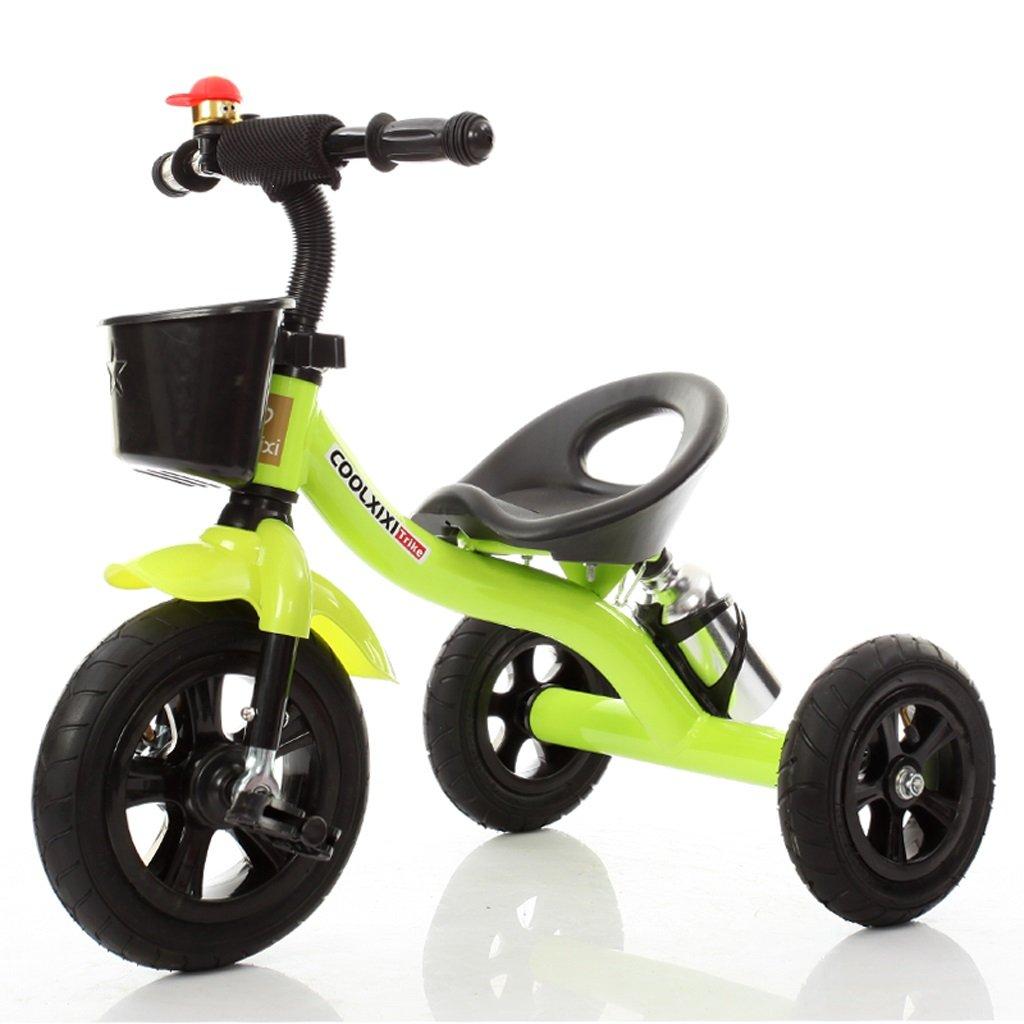 子供の三輪車のベビーバイク2-6歳のベビーカーの自転車、緑/赤/ピンク/紫、71 * 48 * 58センチメートル ( Color : Green ) B07C55PTBC