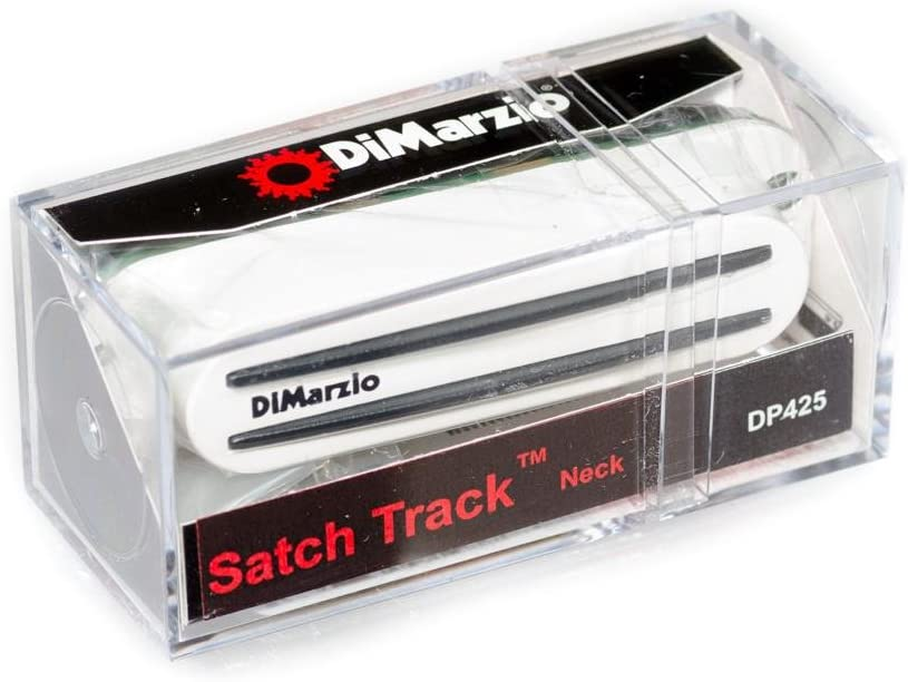 663334041790 x1 DiMarzio DP425W Satch Track Neck Single Coil Pickup White w//Bonus RIS Pick