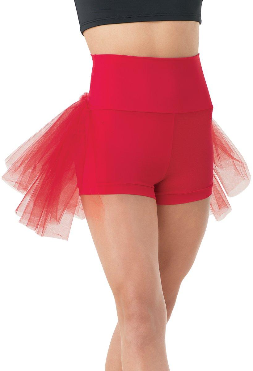 Balera Dance Bustle Shorts High-Waist Red Child Medium by Balera