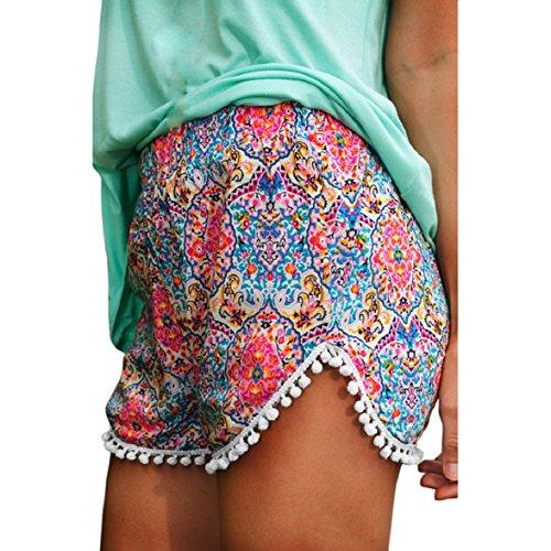 Shensee Sexy Women Lady High Waist Summer Beach Casual Mini Shorts Hot Pants (L)