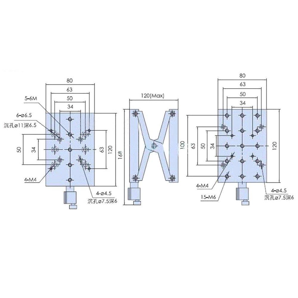 Z Axis Precise Manual Lift Platform Lab Jack Elevator Car Schematic Optical Sliding Travel 60mm Pt Sd408 Home Improvement