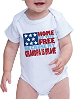 7 ate 9 Apparel Baby's Grandpa is Brave 4th of July