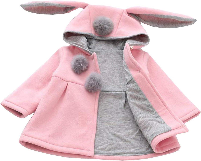 Avidqueen Cute Toddler Baby Girls Kids Fall Winter Coat Jacket Outerwear Ears Hood Hoodie