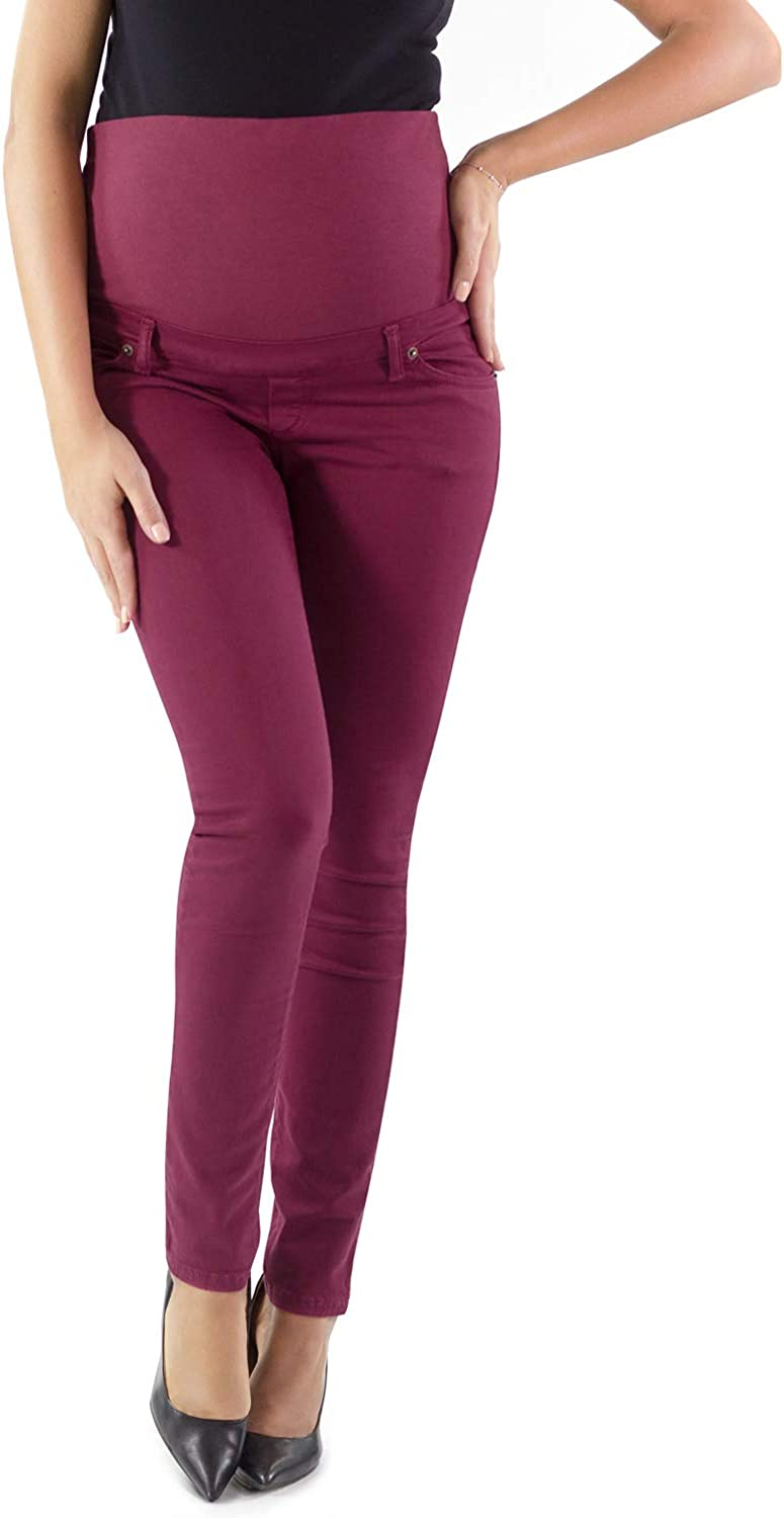Bequem Und Modisch Jeans f/ür Schwangerschaft Skinny Fit Umstandsjeans Made in Italy MAMAJEANS Milano Grundlegende Jeggings Einfach Und Super Elastisch
