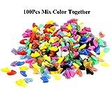 100Pcs Multi-Color Soft Pet Cat Nail Caps Claws