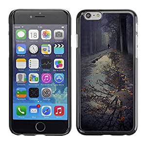 PC/Aluminum Funda Carcasa protectora para Apple Iphone 6 Plus 5.5 Puddle Reflection Fall Autumn Nature / JUSTGO PHONE PROTECTOR
