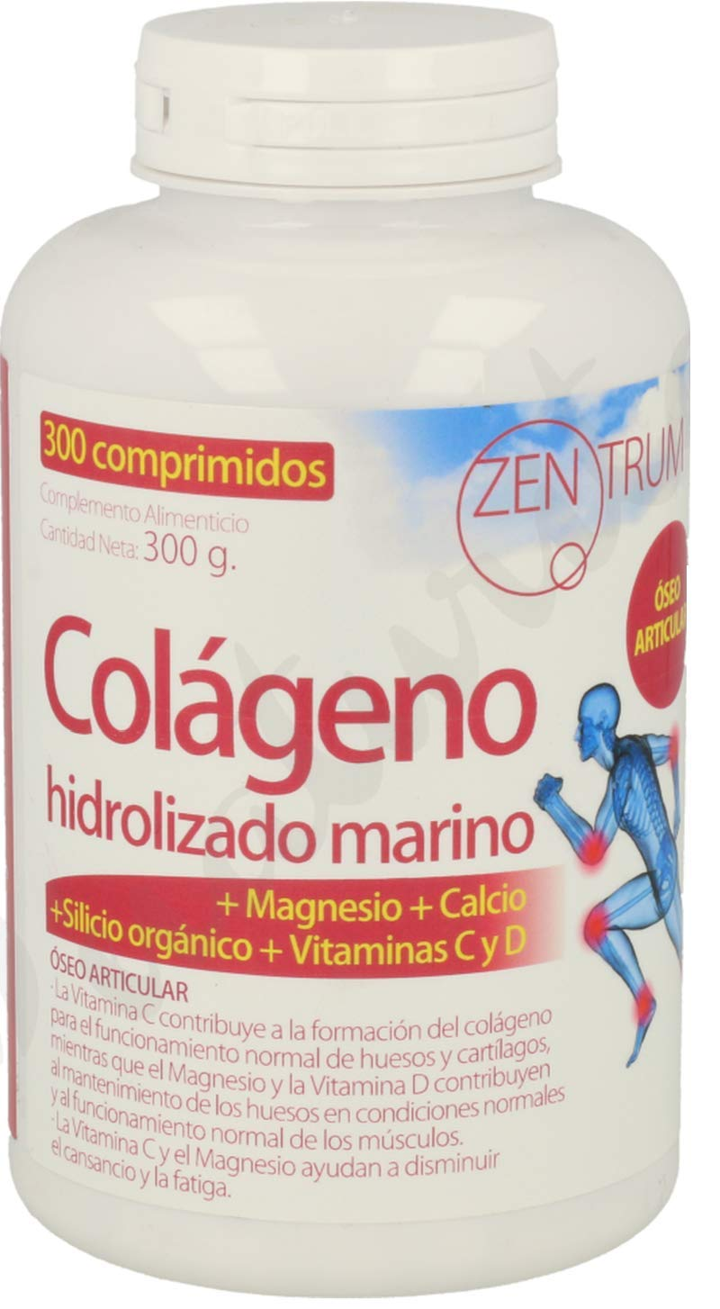 Zentrum Colágeno Hidrolizado Con Magnesio 300 Comprimidos de Ynsadiet: Amazon.es: Salud y cuidado personal