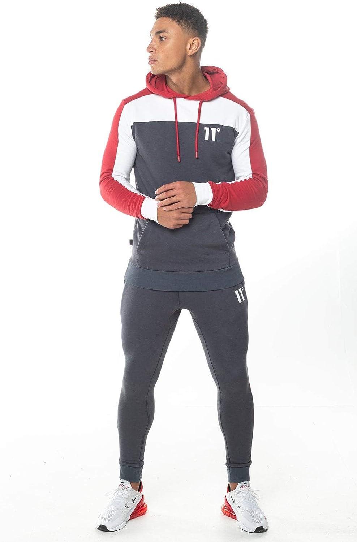 11 Degrees Pantalon Chandal Gris Claro Gym Skinny (M): Amazon.es ...