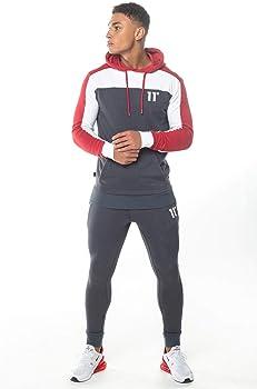 11 Degrees Pantalon Chandal Gris Claro Gym Skinny (L): Amazon.es ...