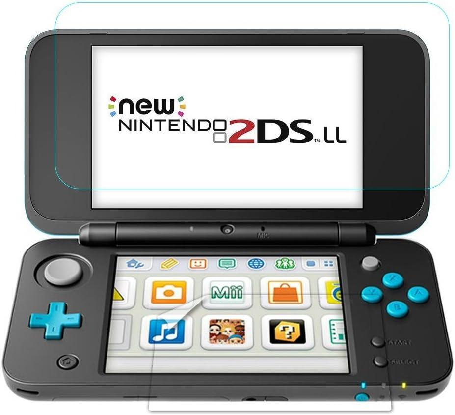 TUTUO Protector de Pantalla para Nintendo New 2DS XL Vidrio Templado 9H para Pantalla Superior*1 y Pantalla Inferior *1, Alta Definición de Cobertura Complet: Amazon.es: Electrónica