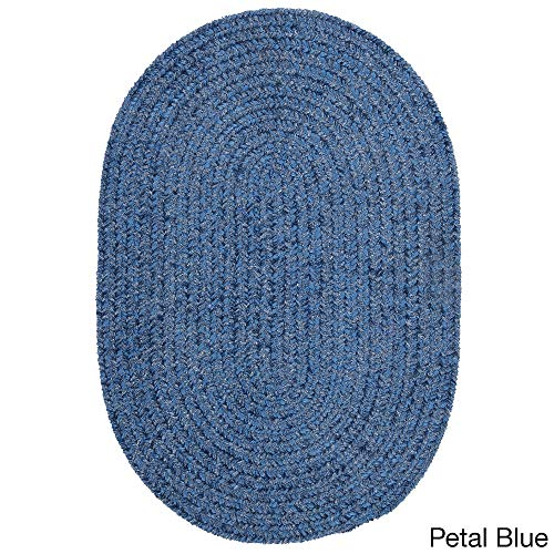 Colonial Mills Soft Chenille Braided Reversible Rug USA Made Petal - Mills Colonial Petal
