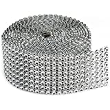 Darice 921373148772 Bling on a Roll, 3mm by 2-Yard, 8 Rows, Silver, 1 Pack